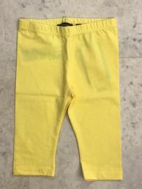 Blue Seven-Kids Girls knitted capri legging-Straw yellow