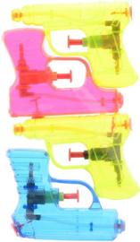 CW--Aqua fun waterpistool 4-pack shooter +/- 11 cm.-Multi color