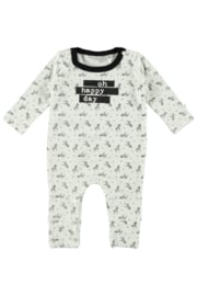 Bampidano-New Born Unisex overall allover print-Black AO