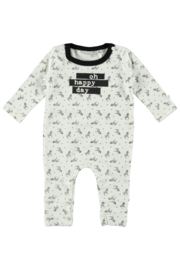 New Born Unisex overall allover print-Bampidano-Black AO