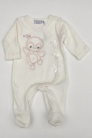 Dirkje-Baby Girls pre 1-pce Babysuit- Off white
