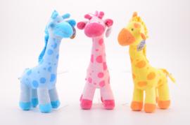 CW-Nicky Toy Knuffel Giraffe 40 cm-3 ass.-Multi Color
