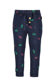 Bampidano-Baby Boys slim fit trousers Bilal plain/allover print SPACE-Navy allover