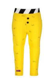 Baby girls tregging in bananas allover print-Cheer banana yellow