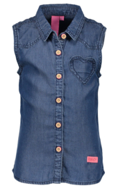 Girls Woven Blouse- B.Nosy- Denim