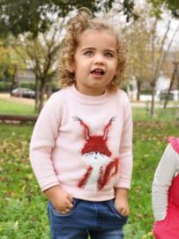 Blue Seven-Mini Girls knitted pullover-Rose orig