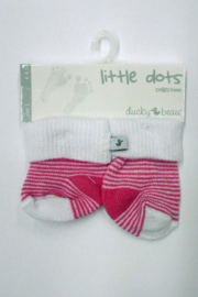 Baby Girls pre Socks-Ducky Beau-Rose stripe