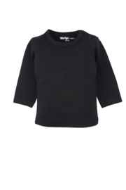 Dirkje-Unisex Basic Shirt l.m. -Black