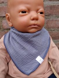Maximo-Ewers-Unisex Mini Driehoekige sjaal-Denim