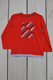 Blue Seven-Kids  boys knitted T-shirt -Tomato