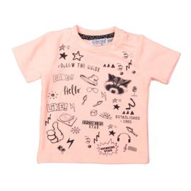 Baby Boys T-shirt ss-Dirkje-Neon peach