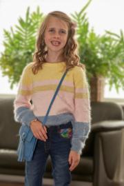 Blue Seven-Kids Girls knitted pullover-Med Blue orig