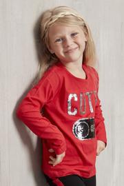 Girls T-Shirt ls- Kids Up- Red
