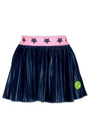Baby girls velvet plissé rok- B.Nosy-ink blue