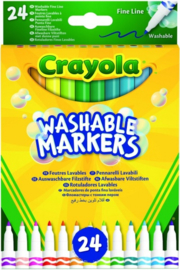 CRAYOLA-Washable markers-24 STUKS-C.W.-Multi Color