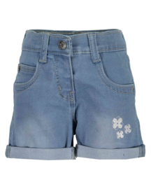 Mini girls woven jeans shorts-MAGIC POND -Blue Seven-LT BLUE ORIG