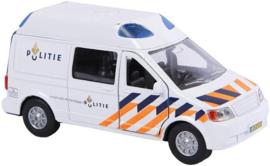 Kids Globe Politie Die-Cast pull back met l/g-C-White
