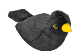 Trendzz-Vogels met geluid-Merel-Blackbird-Black