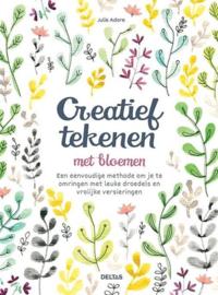 Deltas-Creatief tekenen met bloemen-White
