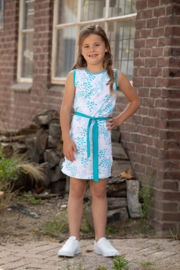 Lovestation22-Girls Dress Nelleke -Scuba  Blue