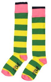 Girls Socks- OChill- Yellow Green
