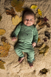 Baby Unisex Jumpsuit- Charlie Choe-  Malachite Green (green)