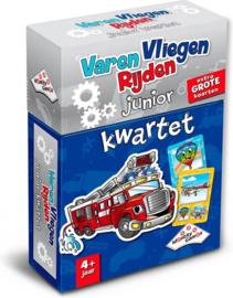 Identity Games-Kwartet Varen-Vliegen-Rijden junior-Kaartspel-Blue
