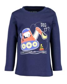 Blue Seven-Mini boys knitted shirt-Ultramarin  orig-Blue