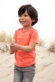 Koko Noko-Boys Nigel T-shirt ss Bio Cotton-Neon Coral