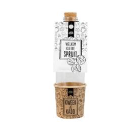 Kweek je kado – Welkom kleine SPRUIT-100% Leuk- White