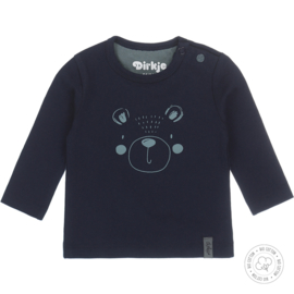 Dirkje-Baby Boys t-shirt l.s Bio Cotton -Navy