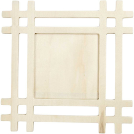 C.W.-Frame, size 17x17 cm-Light brown