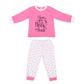 Girls Baby Pyjama I Love You-Beeren- LPC- Rose