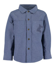 Mini Baby boys woven shirt -up jeans -Blue Seven-Jeansblue orig