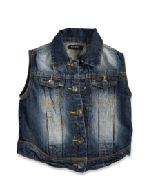 Kids Girls Jeans vest- Blue Seven- Denim
