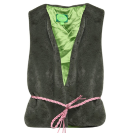 Girls Gilet- Juliette- Olijfgroen