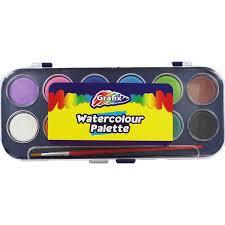 Grafix Waterverf 12 kleuren met penseel-C-diverse kleuren
