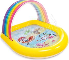 CW-Intex Zwembad Rainbow Spray  147x130x86 cm-Yellow