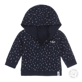 Dirkje-Baby Boys cardigan reversible Bio Cotton-Navy