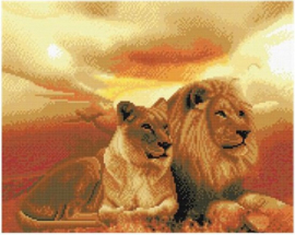 Chrystel Art Kit-Diamand Painting -Lions of the Savanna-Craft Buddy- Multi Color
