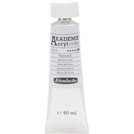 Acryl color-titanium white (111)-Opaque, extr. fade resistant. 60ml-Schmincke AKADEMIE