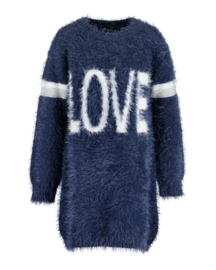 Kids Girls knitted Dress-Blue Seven-DK Blue Orig