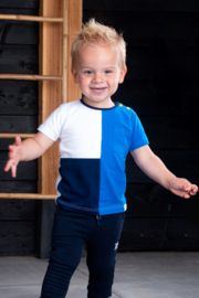 B.Nosy-Baby boys short sleeve colorblock t-shirt with pocket-Electric blue