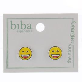 Oorbellen - Biba- Yellow silver