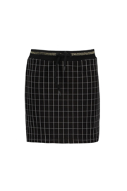 Bampidano-Junior Girls sweat skirt Coosje check/allover print with rib waist MON CHERI -Black Check