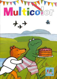 C.W-Kinderboek Kikker Multicolor kleurboek A4- Multi Color