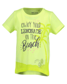 Kids Girls knitted T-Shirt-LEMONADE BEACH-Blue Seven-CITRUS ORIG