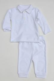 Baby  Unisex 2pce Babysuit- LPC- White