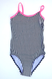 Girls Swimsuit Wish upon a Star - lentiginni-Wit-blauw