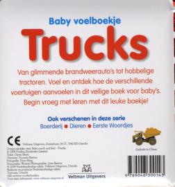 Baby voelboekje Trucks-CBC-Wit